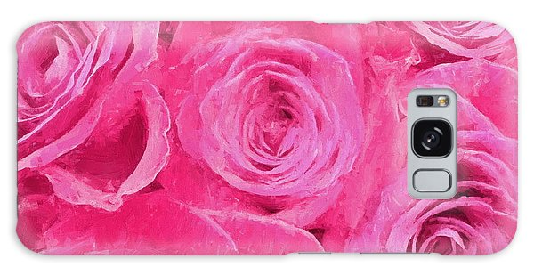 Valentine Bouquet Of Pink Roses Galaxy Case by Andrea Kollo