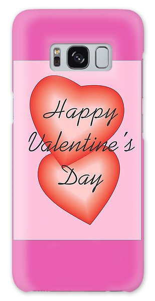 Valentine Hearts Galaxy Case by Sherril Porter