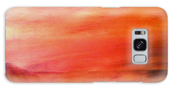 Valley At Sunset Galaxy Case