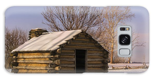 Valley Forge Cabin At Sunset Galaxy Case