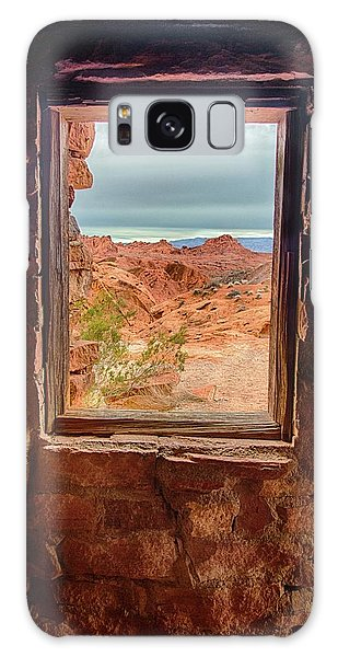 Valley Of Fire Window View Galaxy Case