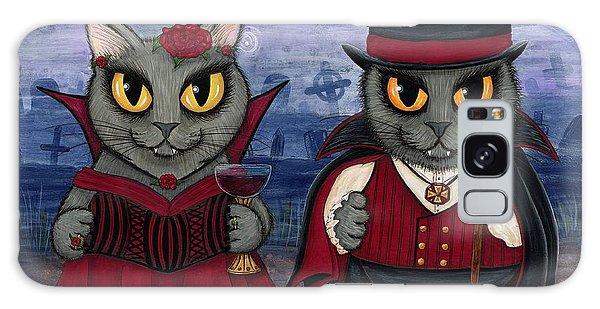 Vampire Cat Couple Galaxy Case