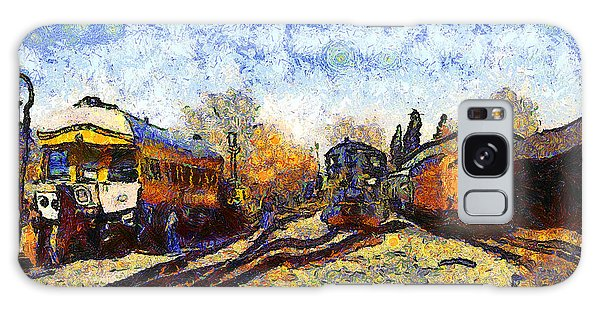 Van Gogh.s Train Station 7d11513 Galaxy Case