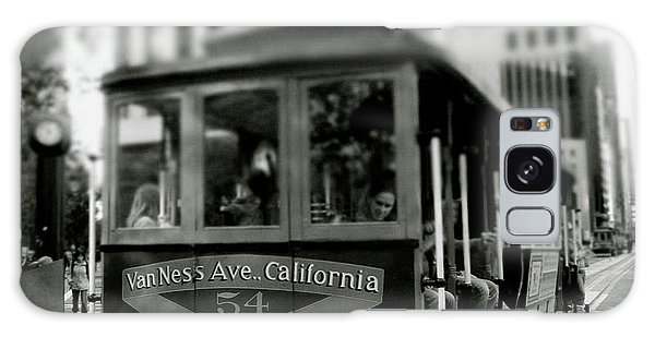Greeting Galaxy Case - Van Ness And Market Cable Car- By Linda Woods by Linda Woods