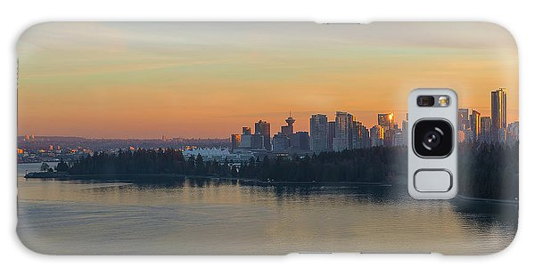 Vancouver Bc Skyline And Stanley Park At Sunset Galaxy Case