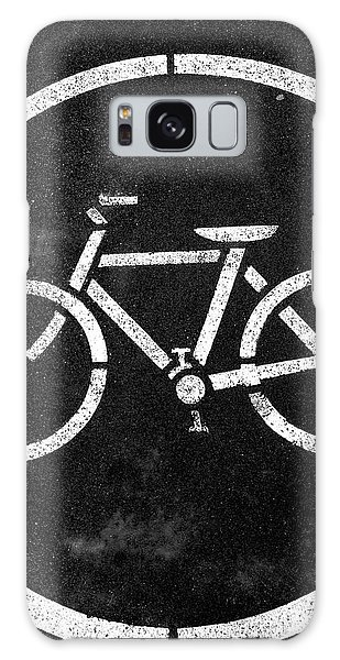 Greeting Galaxy Case - Vancouver Bike Lane- Art By Linda Woods by Linda Woods