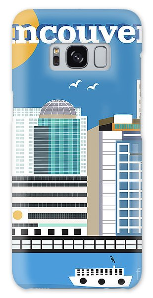 Vancouver City Galaxy Case - Vancouver British Columbia Canada Vertical Skyline by Karen Young