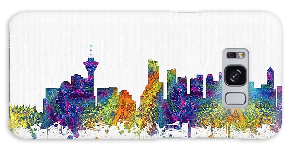 Vancouver City Galaxy Case - Vancouver British Columbia Skyline Color03 by Aged Pixel