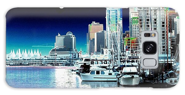 Vancouver Harbor Moonrise  Galaxy Case