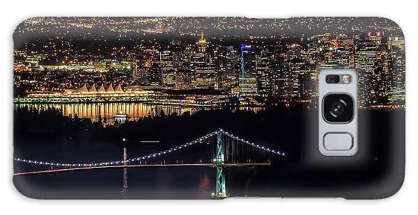Vancouver Night From Cypress Mountain Galaxy Case