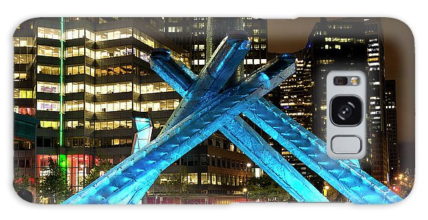 Vancouver Olympic Cauldron At Night Galaxy Case
