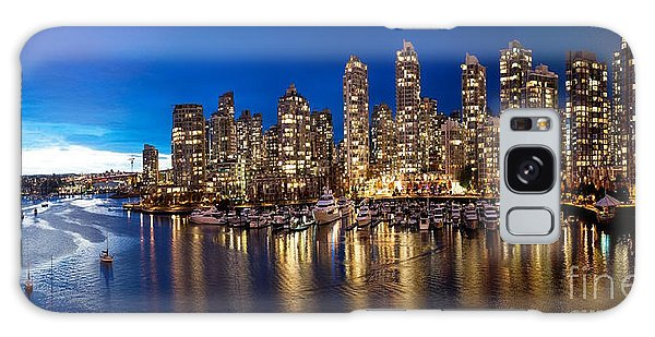 Vancouver Skyline Galaxy Case by Rod Jellison