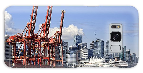 Vancouver Waterfront Skyline Galaxy Case by Charline Xia