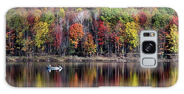 Vanishing Autumn Reflection Landscape Galaxy Case by Christina Rollo