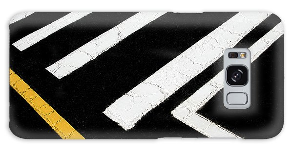 Galaxy Case featuring the photograph Vanishing Traffic Lines With Colorful Edge by Gary Slawsky