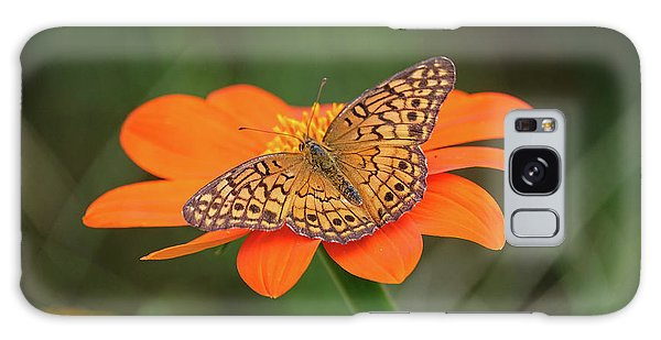 Variegated Fritillary On Flower Galaxy Case