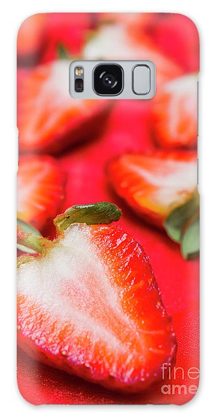 Strawberry Galaxy Case - Various Sliced Strawberries Close Up by Jorgo Photography - Wall Art Gallery