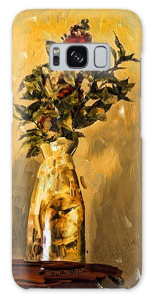 Vase And Flowers Galaxy Case