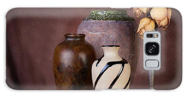 Bud Galaxy Case - Vase And Roses Still Life by Tom Mc Nemar