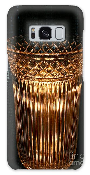Vase In Amber Light Galaxy Case
