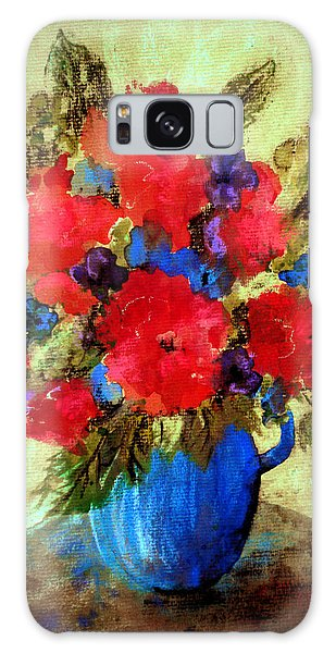 Vase Of Delight-still Life Painting By V.kelly Galaxy Case