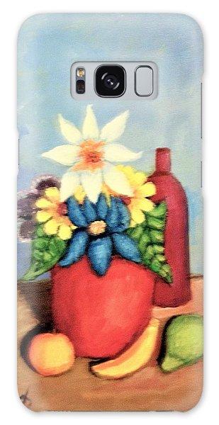 Vase Of Flowers Galaxy Case