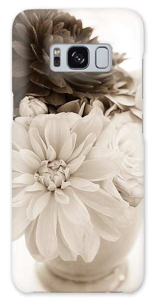 Vase Of Flowers In Sepia Galaxy Case