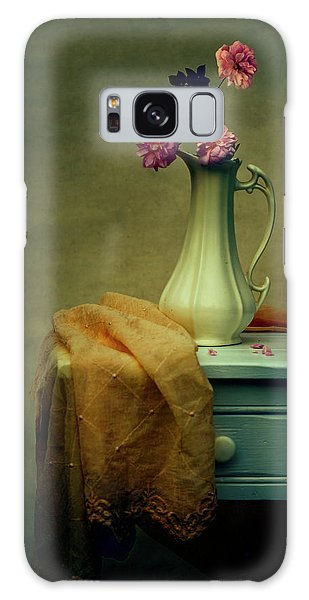 Vase Of Pink Roses Galaxy Case