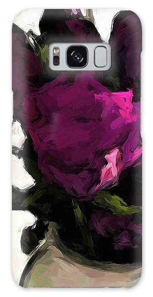Vase Of Roses With Shadows 1 Galaxy Case