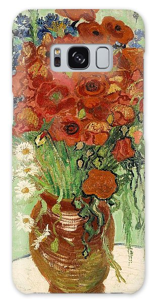 Galaxy Case featuring the painting Vase With Daisies And Poppies by Van Gogh