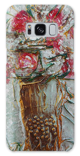 Vase With Roses Galaxy Case