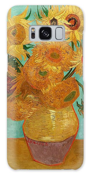 Galaxy Case featuring the painting Vase With Twelve Sunflowers by Van Gogh