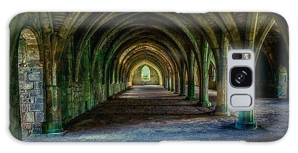 Vaulted, Fountains Abbey, Yorkshire, United Kingdom Galaxy Case