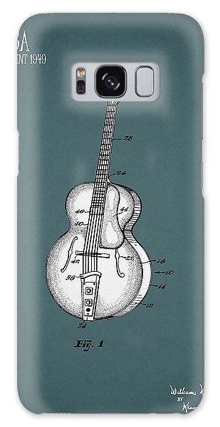 Guitar Galaxy Case - Vega Guitar Patent 1949 by Mark Rogan