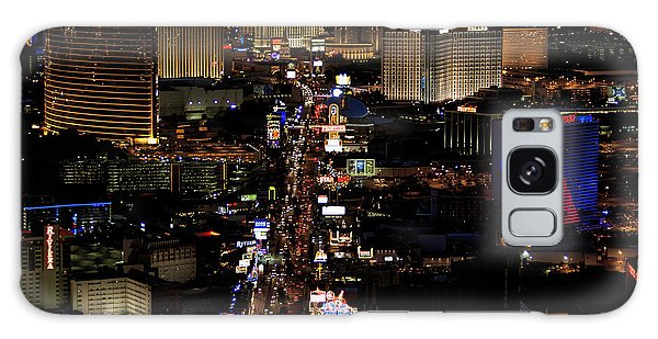Vegas Night Lights Galaxy Case by Linda Phelps