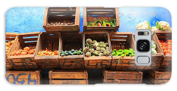 Galaxy Case featuring the photograph Veggies And The Blue Wall by Ramona Johnston