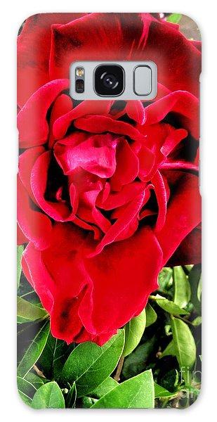 Velvet Red Rose Galaxy Case