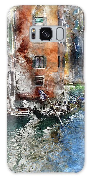Venetian Gondolier In Venice Italy Galaxy Case