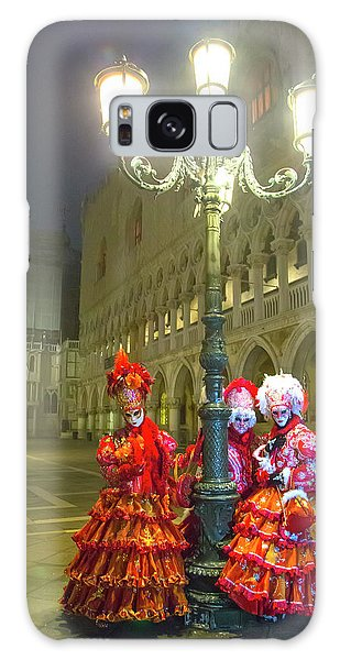 Venetian Ladies In San Marcos Square Galaxy Case