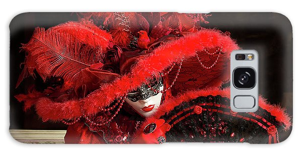 Venetian Lady In Red I  Galaxy Case