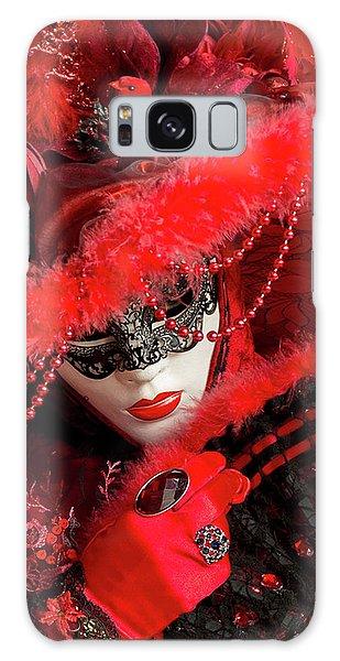 Venetian Lady In Red II  Galaxy Case