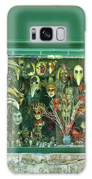 Galaxy Case featuring the photograph Venetian Masks by Anne Kotan