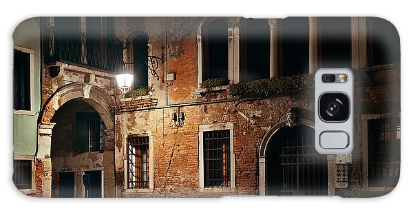 Galaxy Case featuring the photograph Venice Alley At Night by Songquan Deng