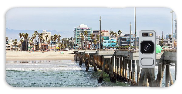 Venice Beach From The Pier Galaxy Case