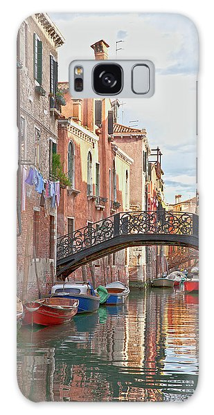 Galaxy Case featuring the photograph Venice Bridge Crossing 5 by Heiko Koehrer-Wagner