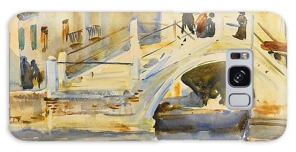 Impressionistic Galaxy Case - Venice. Bridge With Figures  by John Singer Sargent