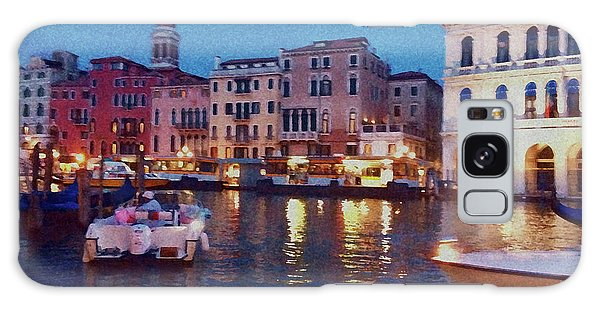 Galaxy Case featuring the photograph Venice By Night by Anne Kotan