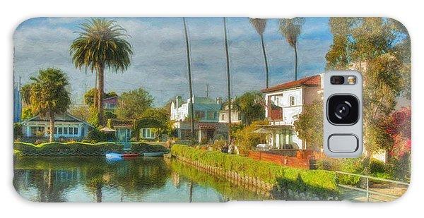Venice Canal Houses Watercolor  Galaxy Case by David Zanzinger