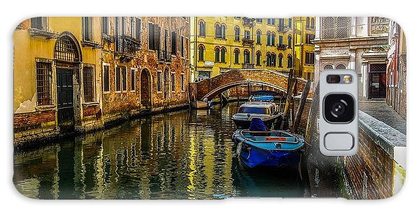 Venice Canal In Italy Galaxy Case