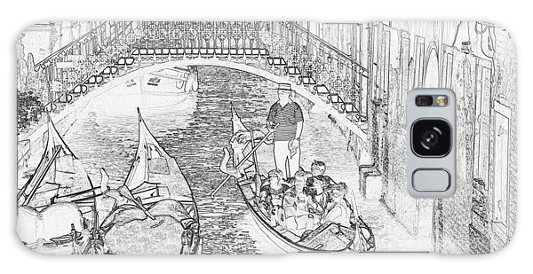Galaxy Case - Venice Canal Pen And Ink 4279 by Bob Neiman